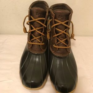 Sperry leather duck boots